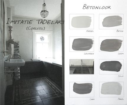 Carte colori krijtverf paint decorations for Betonlook verf