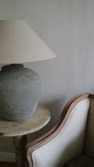 Kalkverf op kruik