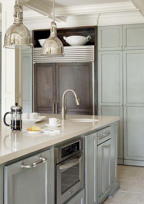 Keuken Tegels Verven : Gray Painted Kitchen Cabinets
