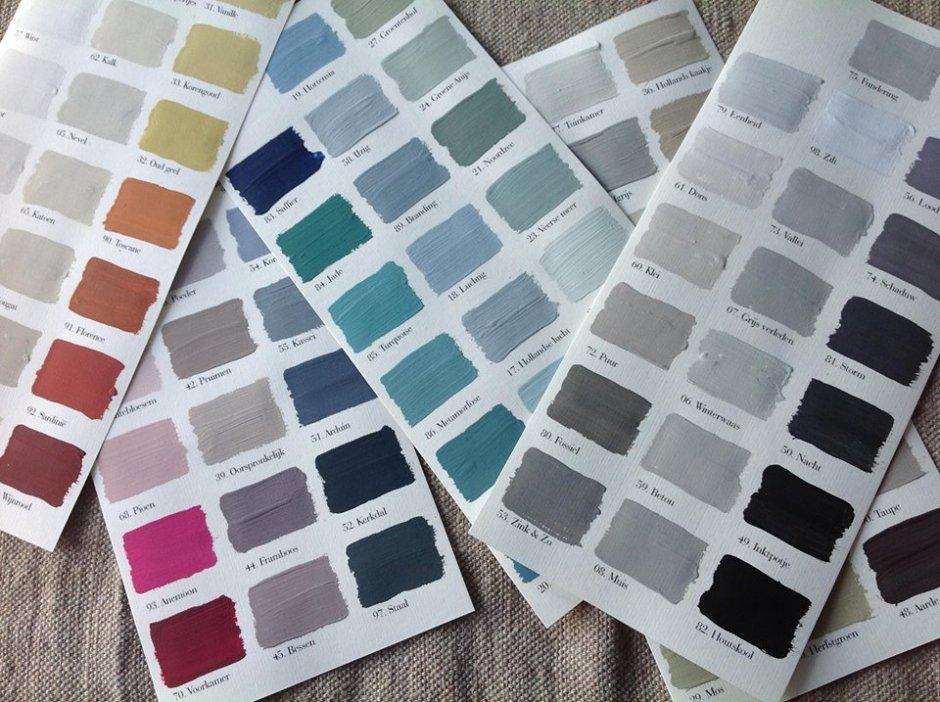 L'Authentique kalkverf kleurenkaart
