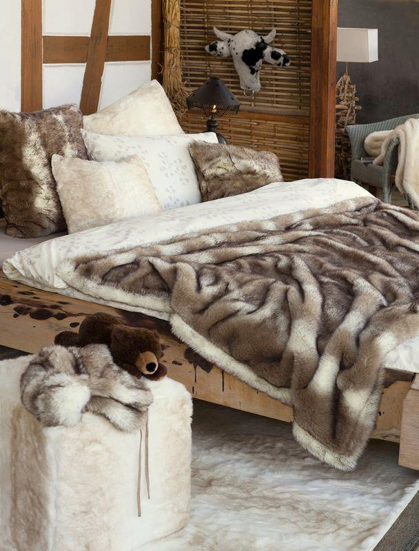 WinterHome Bont Plaid Fake Fur