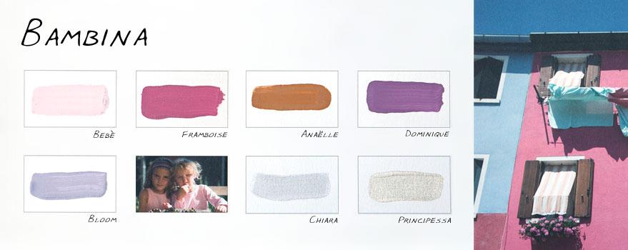 """Kleurenkaart """"Bambina"""" Carte Colori"""