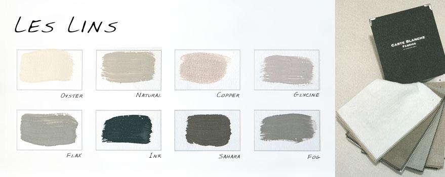 "Kleurenkaart ""Les Lins"" Carte Colori"