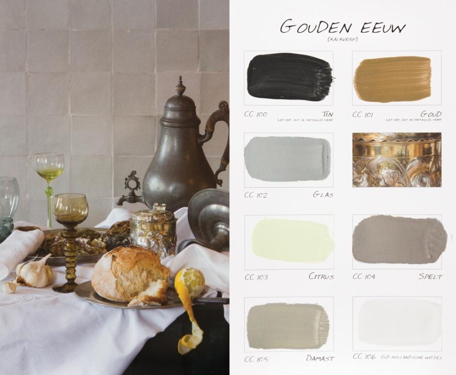 """Kleurenkaart """"Gouden Eeuw"""" Carte Colori"""