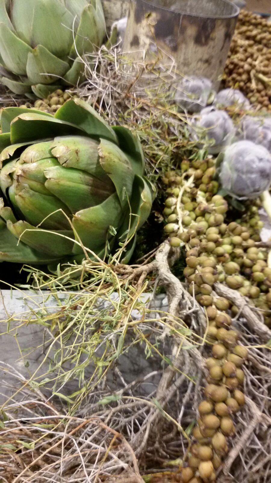 Prachtige groendecoraties op de stand van Wonen Landelijke Stijl