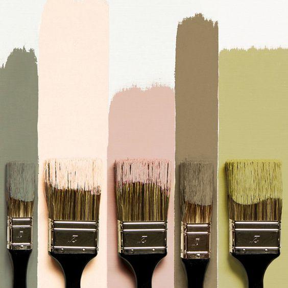 Flamant kleuren paint decorations - Nuancier peinture couleur pastel ...